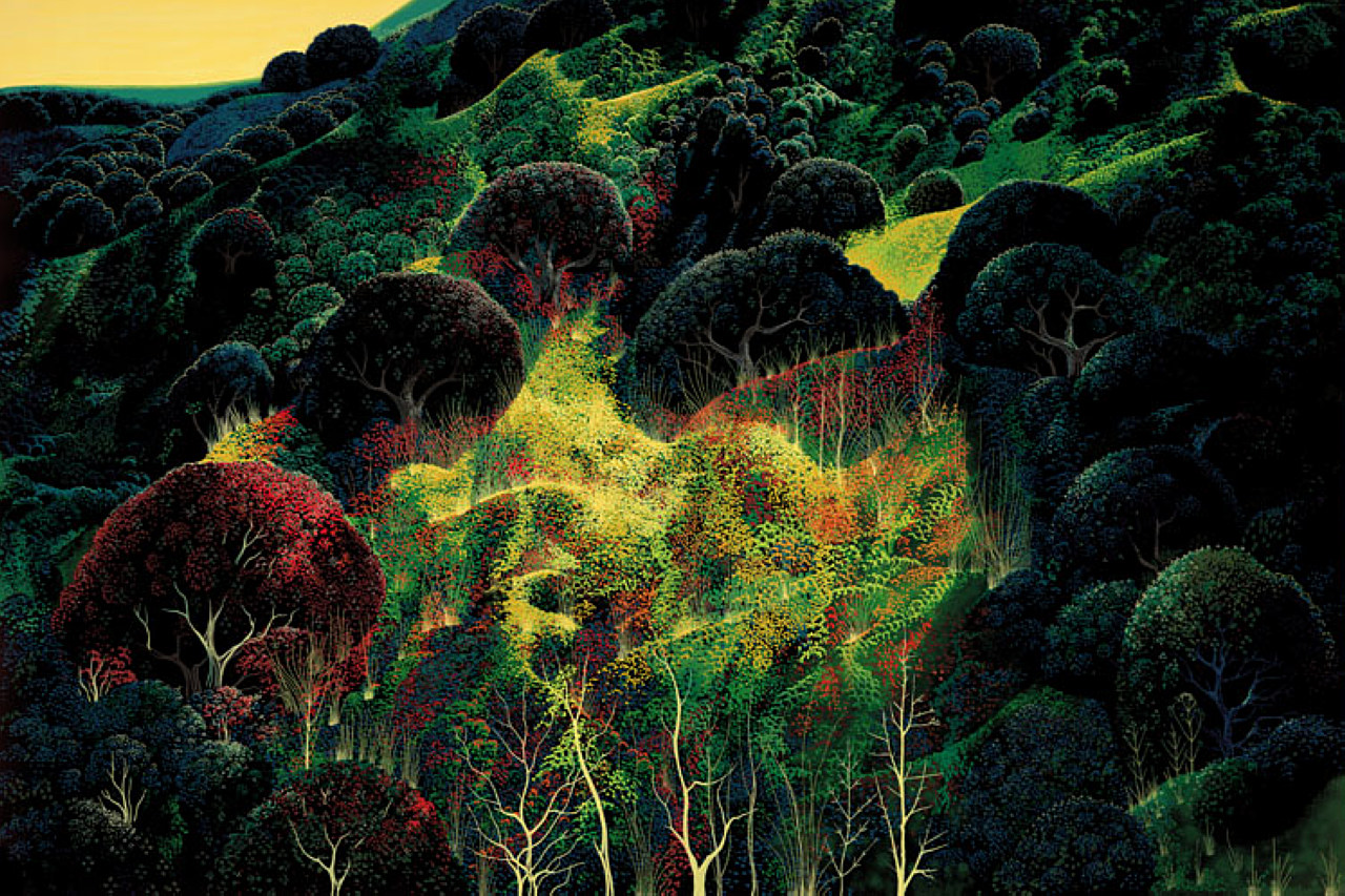 Eyvind Earle - Empty Kingdom - Art Blog