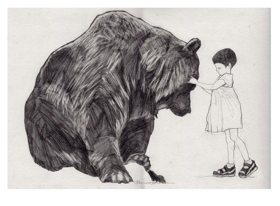 ThomasColwyn-Folio-Illustration-Agency-Digital-Fantasy-Graphic-BlackWhite-Portrait-ConceptArt-bearg-L