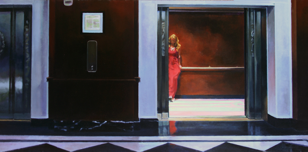 First Floor oil on canvas 18x36 inches