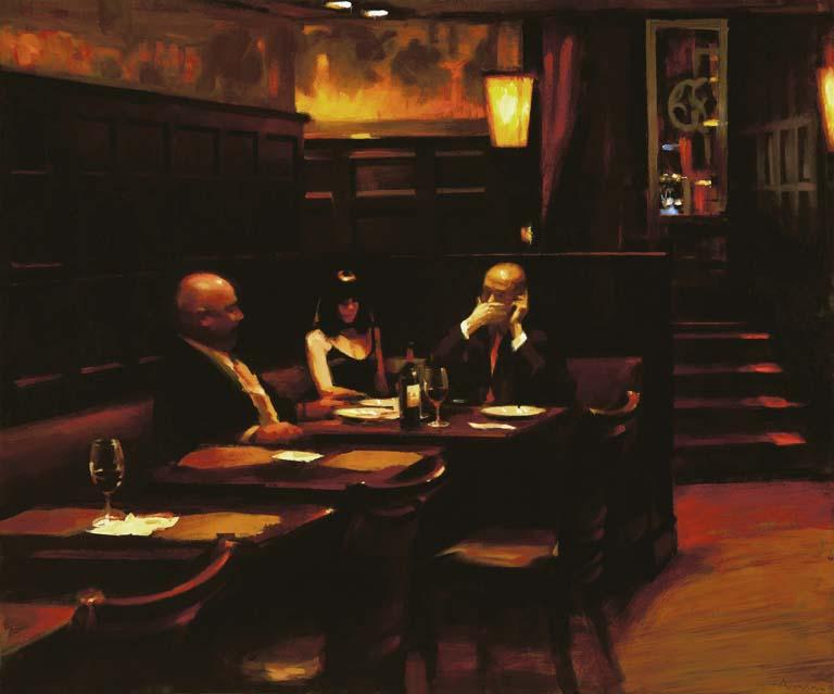 Nighthawks, Delmonico's, 2010, 50x60