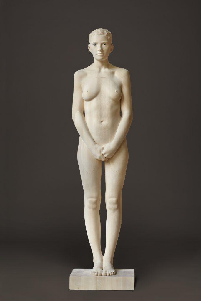 Mario Dilitz, holz #30, 2014, Lindenholz, 186 x 29 x 27 cm,
