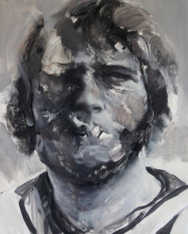 Prisoner II. Olie op doek. 120 x 150 cm. 2014. 3100,-