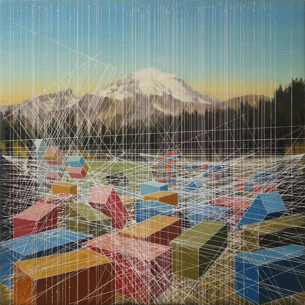 Tipsoo Lake After 12 x 12 inches oil on canvas 2014